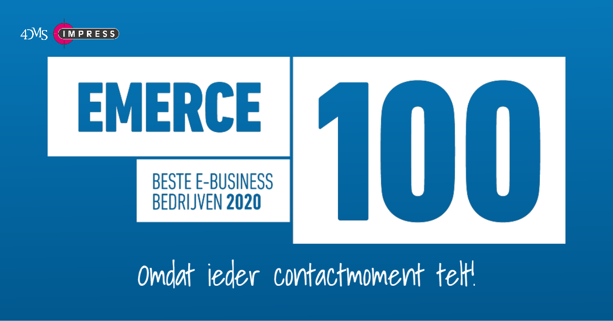 Emerce 100, marketing automation: Impress – 4DMS hoort bij de beste bureaus!